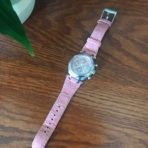 Michael Kors Pink Leather Watch
